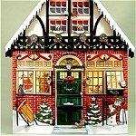 Wooden Advent Calendar House